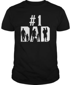 #1 Dad Number One Father's Day Vintage Style T-Shirts