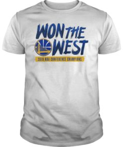 2019 Golden Won The West State Warriors T-Shirt