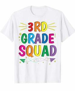 3rd Grade Squad Tee Shirt Third Grade Teacher Student Gift