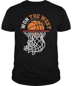Warriors Won The West Shirt Oakland Basketball Fans T-Shirt