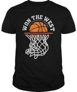 Warriors Won The West Shirt Oakland Basketball Fans Tee
