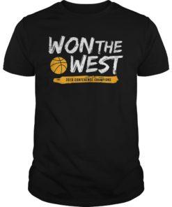 Warriors Won The West T-Shirt Basketball Fans Tee