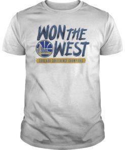 Warriors Won The West T-Shirt Oakland Basketball Fans T-Shirt