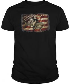 Washington riding Shark Tshirt Patriotic 4th of July Gifts