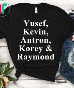 Yusef, Kevin, Antron, Korey, Raymond Shirt Central Park 5 Shirt Movie Tee