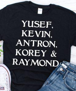 Yusef Raymond Korey Antron & Kevin Tshirt - korey wise Shirt - Central Park 5 Vintage Shirt T-shirt