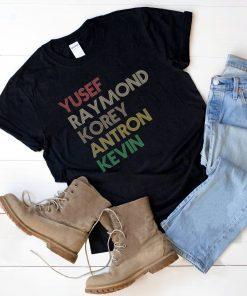 Yusef Raymond Korey Antron & Kevin Tshirt korey wise Unisex Tee Shirt
