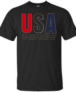 2019 World Champions Us Women's National Team T-Shirt