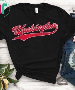 Washington Baseball , Retro Vintage National Gift T-Shirt