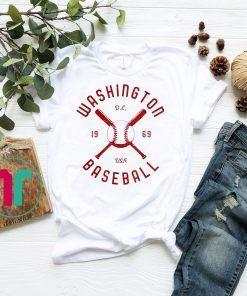 Washington Baseball distressed vintage retro t-shirt