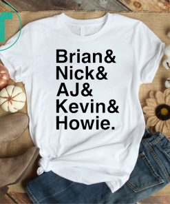 We All Love Backstreet Back Great Boys Shirt
