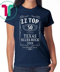 ZZ Top 50 Texas Blues Rock Tee Shirt