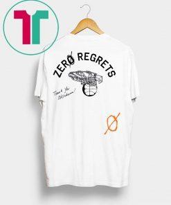 ZerØ Regrets Thank You Honoring Oklahoma Tee Shirt