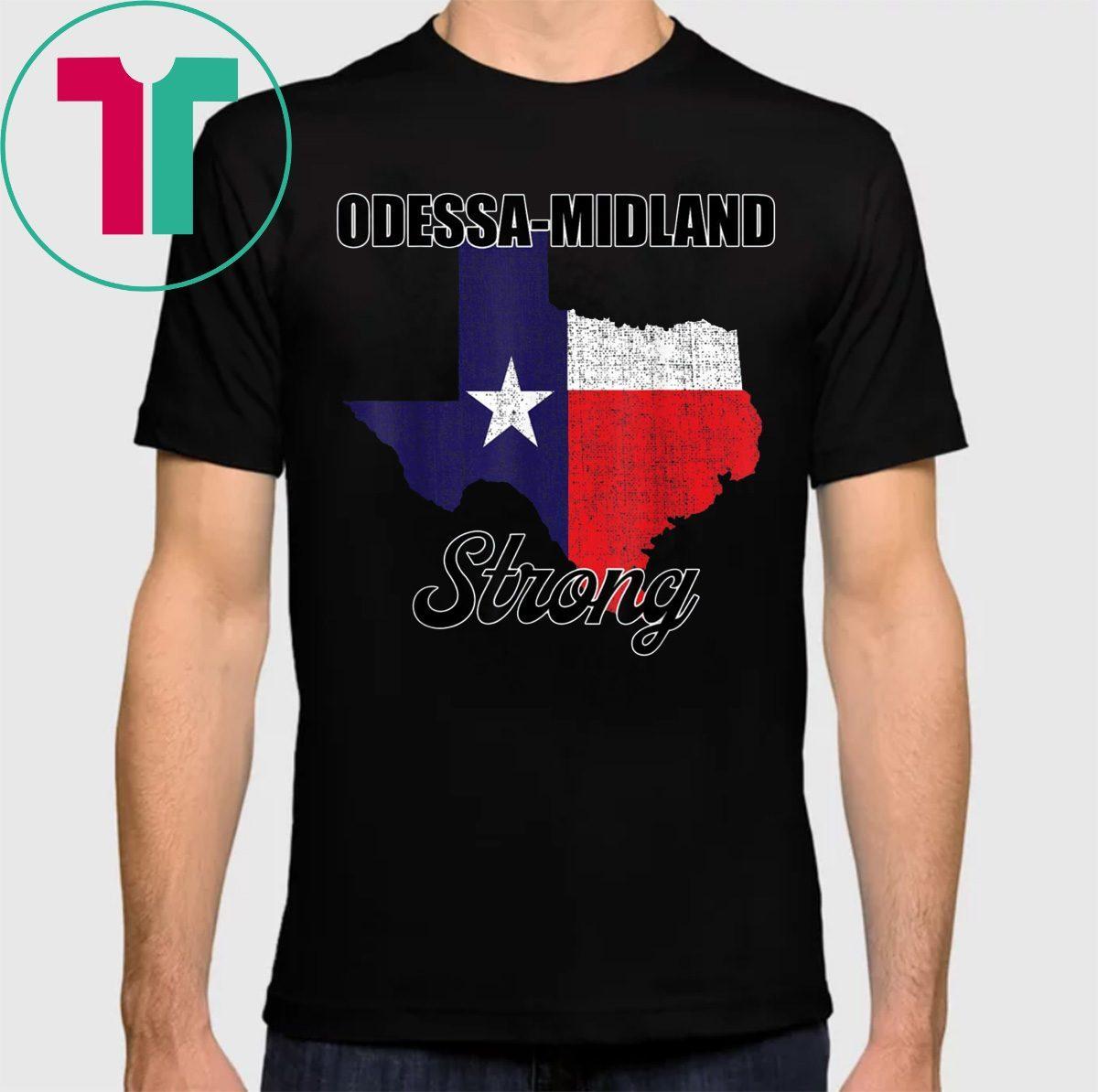 Odessa Midland Strong Shirt Texas Strong Texas Map T-Shirt