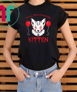 We all meow down here clown cat kitten pennywise shirt