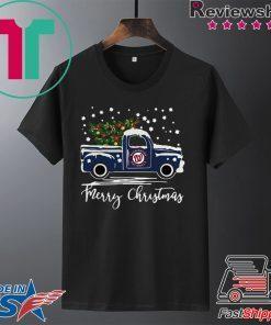 Washington Nationals pickup truck Merry Christmas shirt