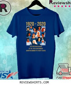 19th Amendment Women's Right to Vote 100 Years Suffragette T-Shirt