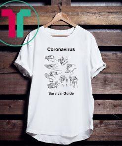 Wash your Hands Coronavirus survival guide parody graphic tee shirt
