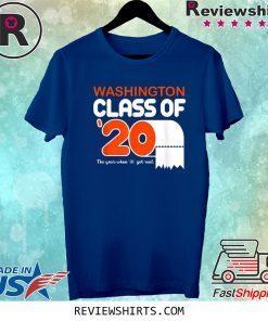 Washington Class Of 2020 Toilet Paper Senior Tee Shirt