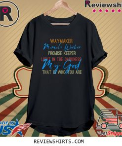Waymaker Miracle Worker Light In This World John 3:16 Tee Shirt