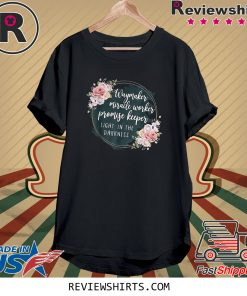 Waymaker Miracle Worker Promise Keeper Light Floral Tee Shirt